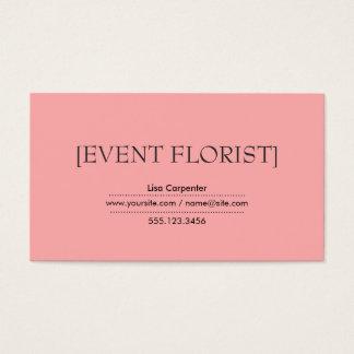 Brackets Light Salmon Pink Background Business Card