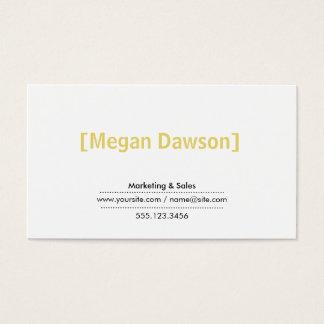 Brackets (muted yellow) business card