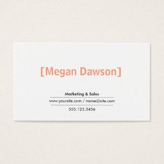 Brackets (salmon) business card