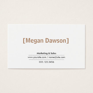 Brackets (taupe) business card