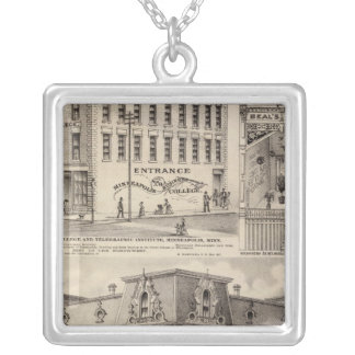 Brackett's Block, Minnesota Silver Plated Necklace