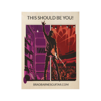 Brad Barnes Guitar Studio Poster (Purple) standard