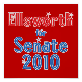 Brad Ellsworth for Senate 2010 Star Design Poster