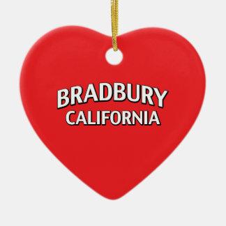 Bradbury California Adorno Navideño De Cerámica En Forma De Corazón