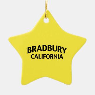 Bradbury California Adorno Navideño De Cerámica En Forma De Estrella