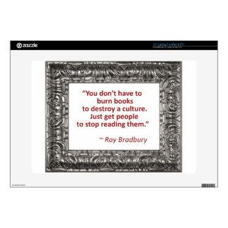 Bradbury on books skins for laptops