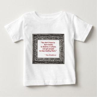 Bradbury on books tee shirt