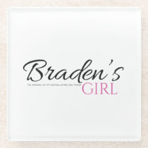 Braden's Girl with black and pink Coaster