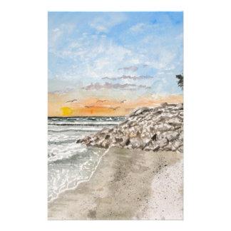 Bradenton Beach Florida sunset Stationery