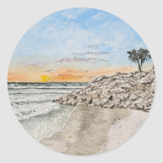 Bradenton Beach Florida sunset Sticker