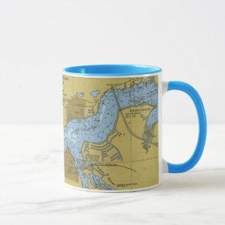 Bradenton Florida Manatee River Chart Mug