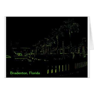 Bradenton Florida Marina Greeting Card