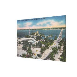 Bradenton, Florida - View Across Manatee River Canvas Print