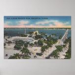 Bradenton, Florida - View Across Manatee River Poster