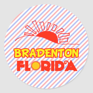 Bradenton la Florida Pegatina Redonda