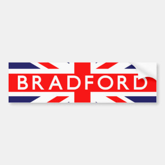 Bradford: Bandera británica Pegatina Para Auto