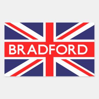 Bradford: Bandera británica Pegatina Rectangular
