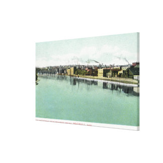 Bradford Bridge View of the Waterfront Canvas Print
