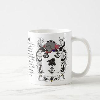 Bradford Family Coat of Arms Mug