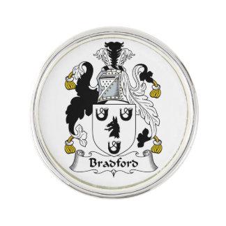 Bradford Family Crest Lapel Pin