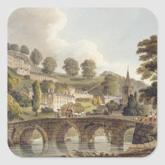 Bradford, from 'Bath Illustrated by a Series of Vi Square Sticker
