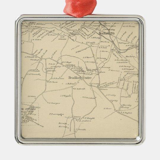 Bradford, Merrimack Co Metal Ornament