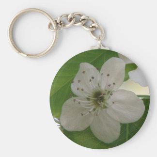 Bradford Pear Bloom Basic Round Button Keychain