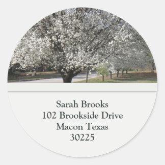 Bradford Pear Tree Address Label
