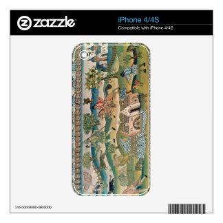 Bradford Table Carpet, detail of scenes of rural l iPhone 4S Decals