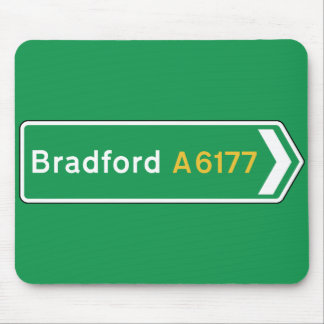 Bradford, UK Road Sign Mousepads