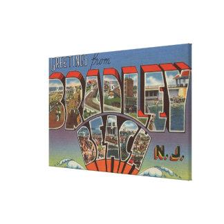 Bradley Beach, New Jersey - Large Letter Scenes Canvas Print