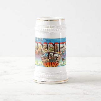 Bradley Beach New Jersey NJ Vintage Old Postcard- Beer Stein