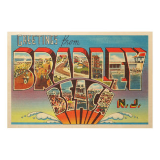 Bradley Beach New Jersey NJ Vintage Old Postcard- Wood Print