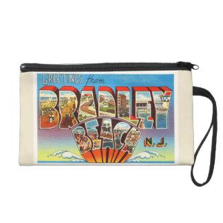 Bradley Beach New Jersey NJ Vintage Old Postcard- Wristlet Purse