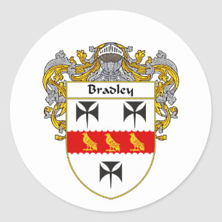Bradley Coat of Arms (Mantled) Classic Round Sticker