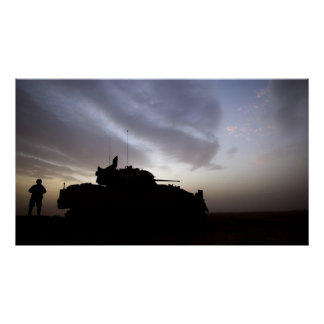 Bradley Fighting Vehicle Poster