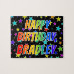 "[ Thumbnail: ""Bradley"" First Name, Fun ""Happy Birthday"" Jigsaw Puzzle ]"