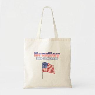 Bradley for Congress Patriotic American Flag Tote Bag