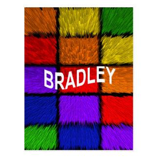 BRADLEY ( male names ) Postcard