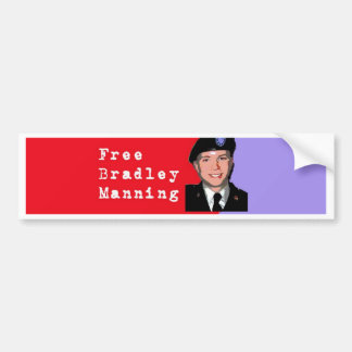 Bradley Manning Car Bumper Sticker