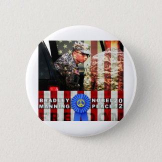 Bradley Manning for Nobel Peace Prize Button
