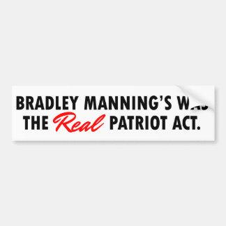 Bradley que sirve a la pegatina para el parachoque etiqueta de parachoque