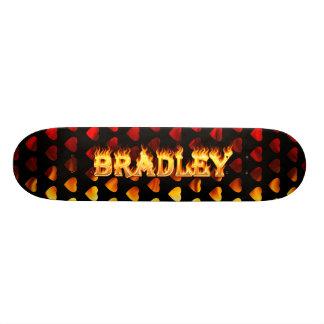 Bradley skateboard fire and flames design.