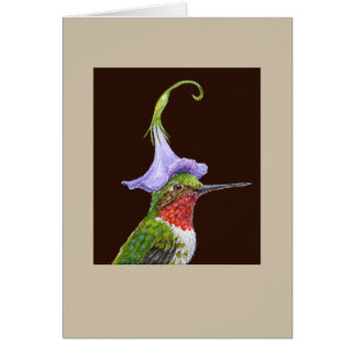 Bradley the hummingbird card