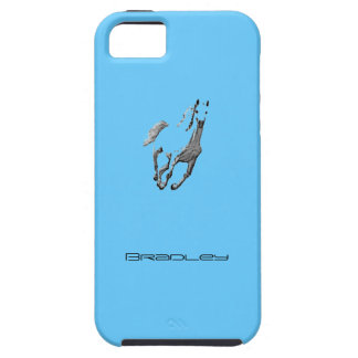 Bradley's blue iPhone 5 cover