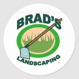 Brad's Landscaping Extract Movie Classic Round Sticker