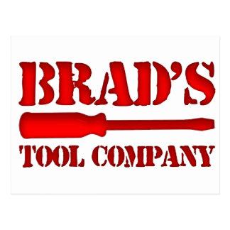 Brad's Tool Company Postcard