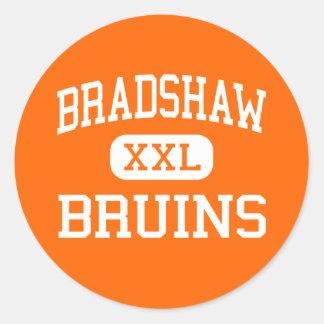 Bradshaw - Bruins - High School - Florence Alabama Classic Round Sticker