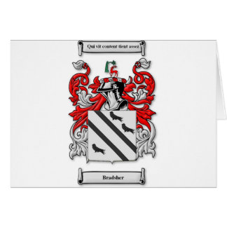Bradsher Coat of Arms Card