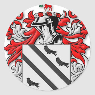 Bradsher Coat of Arms Classic Round Sticker